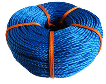 China Blue 3 Strand Nylon Rope PP PE Twisted Feature Diameter 6mm-160mm supplier